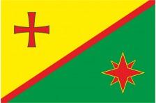 Флаг села Вербовое Пологовского района Запорожской области Украины