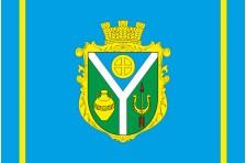 Флаг села Воскресенка Пологовского района Запорожской области Украины