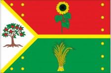 Флаг села Владимировка Красноградского района Харьковской области Украины