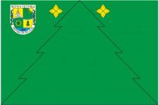 Флаг села Верхние Петровцы Сторожинецкого района Черновицкой области Украины