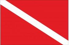 Флаг дайвера, дайв флаг. Вариант-1