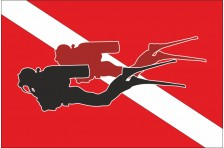 Флаг дайвера, дайв флаг. Вариант-3