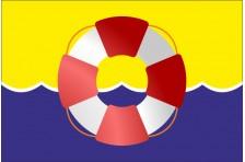 Флаг указатель «ВОДНАЯ СПАСАТЕЛЬНАЯ СТАНЦИЯ». Вариант-2
