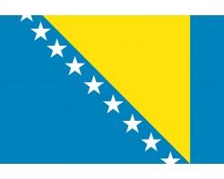 Флаг Боснии и Герцеговины.