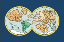 """Скатерть """"Карта МИРА"""". Вариант-05"""