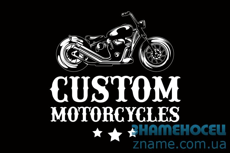 Флаг Custom Motorcycles. Вариант-02