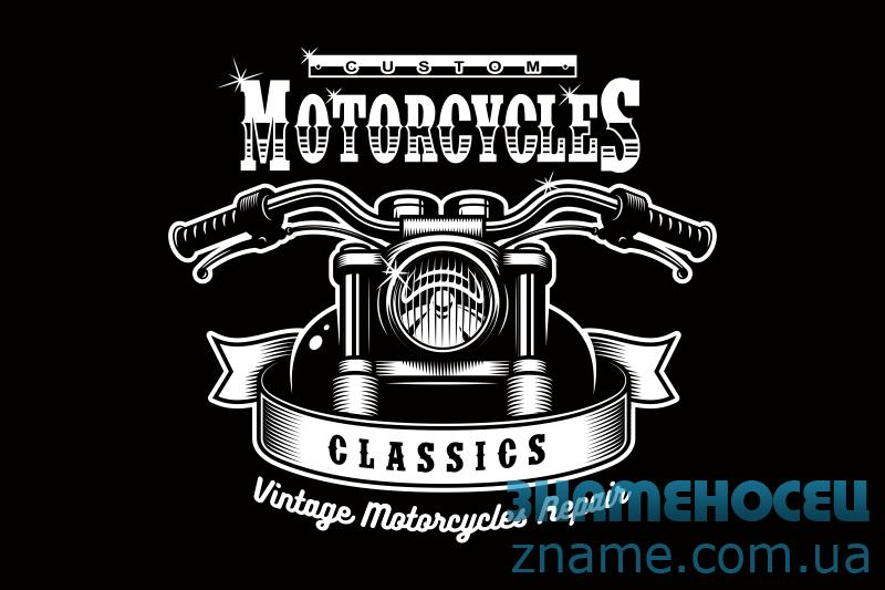 Флаг Custom Motorcycles. Вариант-07