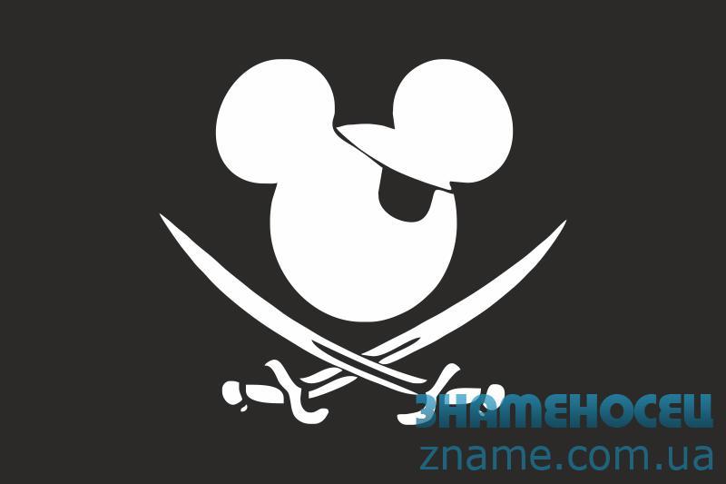 Флаг пиратский «Микки Маус»